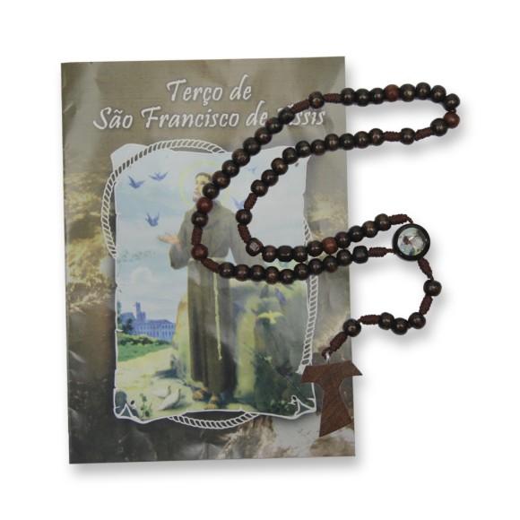 TE95403 - Terço c/ Oração São Francisco de Assis - 31cm