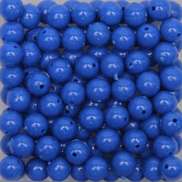 CTM050011P500G - Contas Bolinhas Acrílico Azul Royal c/ 500 gramas - 8mm