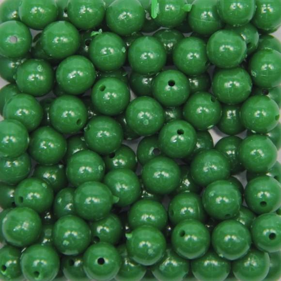 CTM050030P500G - Contas Bolinhas Acrílico Verde c/ 500 gramas - 8mm