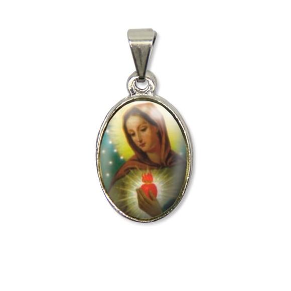 MD125001P2 - Medalha Chama do Amor PX Níquel c/ 2un. - 3X1,5cm