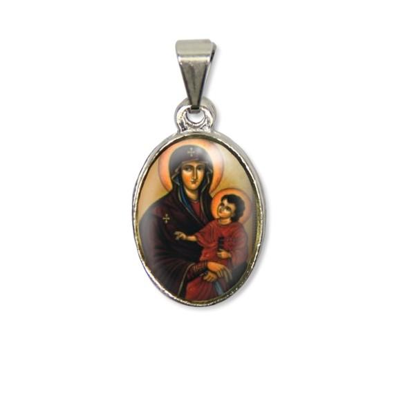 MD125003P2 - Medalha Mãe de Deus PX Níquel c/ 2un. - 3X1,5cm