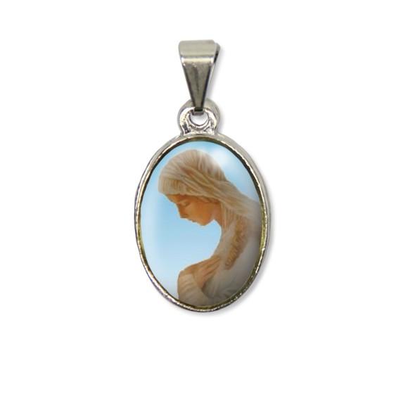 MD125005P2 - Medalha N. Sra. Da Anunciação PX Níquel c/ 2un. - 3X1,5cm