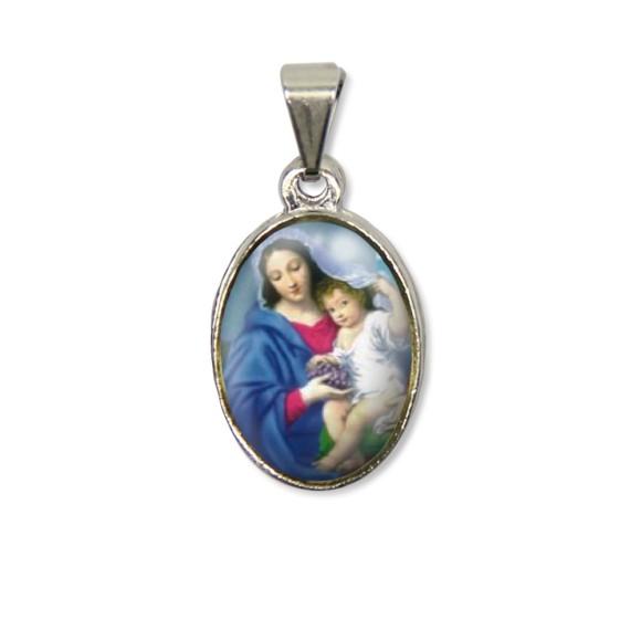 MD125006P2 - Medalha N. Sra. Da Divina Providência PX Níquel c/ 2un. - 3X1,5cm