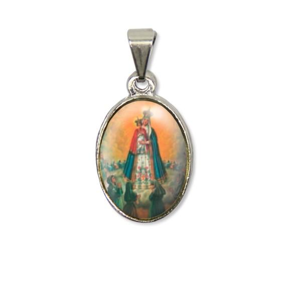 MD125017P2 - Medalha N. Sra. Do Bom Parto PX Níquel c/ 2un. - 3X1,5cm