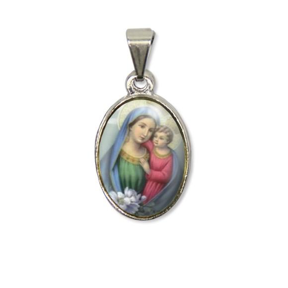 MD125019P2 - Medalha N. Sra. Do Conselho PX Níquel c/ 2un. - 3X1,5cm