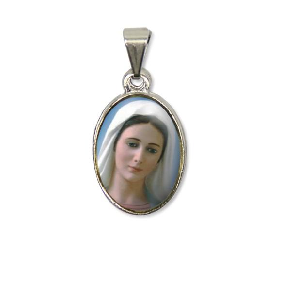 MD125027P2 - Medalha Rainha da Paz PX Níquel c/ 2un. - 3X1,5cm