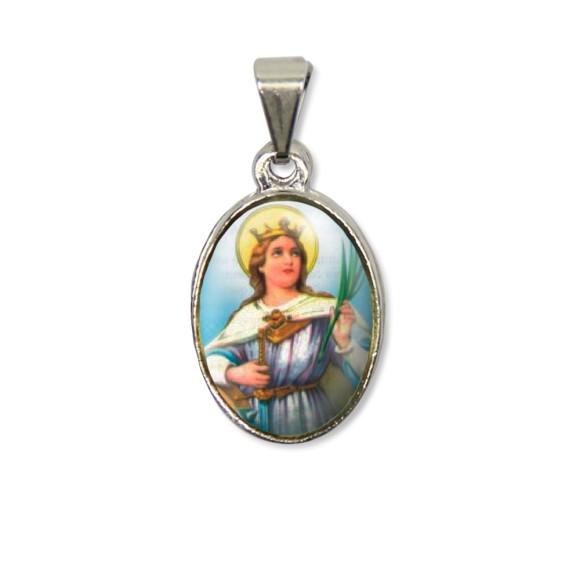 MD125033P2 - Medalha Santa Catarina PX Níquel c/ 2un. - 3X1,5cm