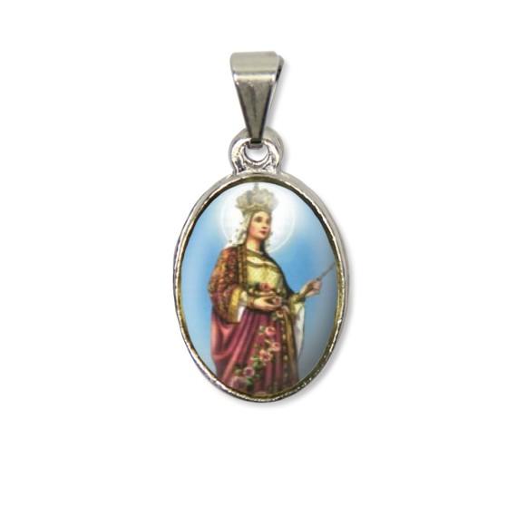 MD125038P2 - Medalha Santa Isabel PX Níquel c/ 2un. - 3X1,5cm