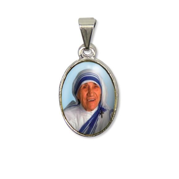 MD125051P2 - Medalha Teresa de Calcutá PX Níquel c/ 2un. - 3X1,5cm