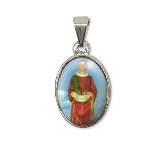 MD125411P2 - Medalha Santo Estevão PX Níquel c/ 2un. - 3X1,5cm