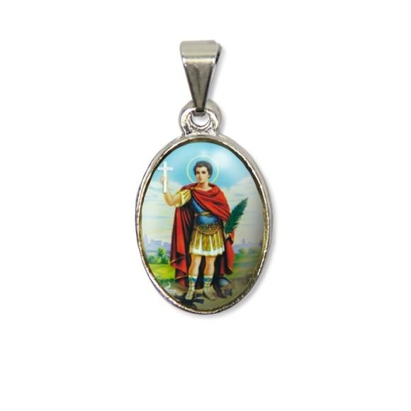 MD125412P2 - Medalha Santo Expedito PX Níquel c/ 2un. - 3X1,5cm