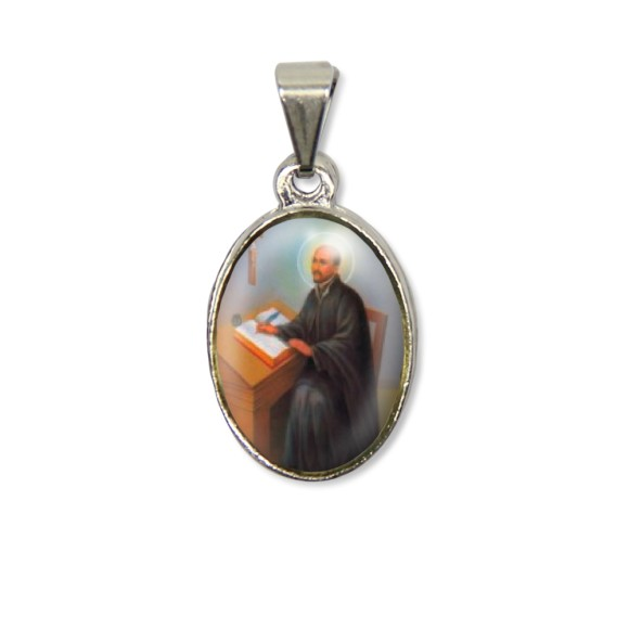 MD125422P2 - Medalha São Inácio de Loyola PX Níquel c/ 2un. - 3X1,5cm