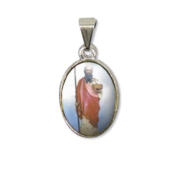 MD125425P2 - Medalha São Joaquim PX Níquel c/ 2un. - 3X1,5cm