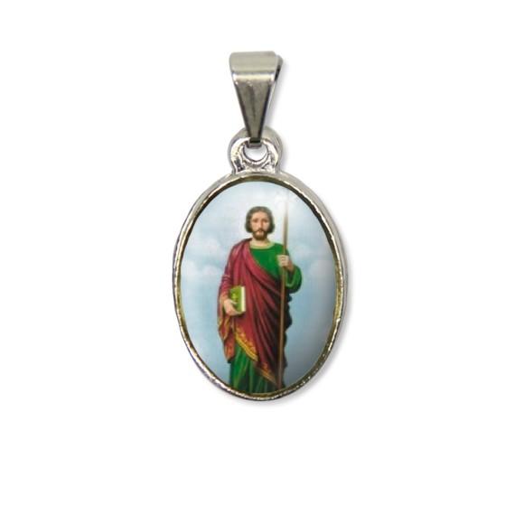 MD125427P2 - Medalha São Judas Tadeu PX Níquel c/ 2un. - 3X1,5cm