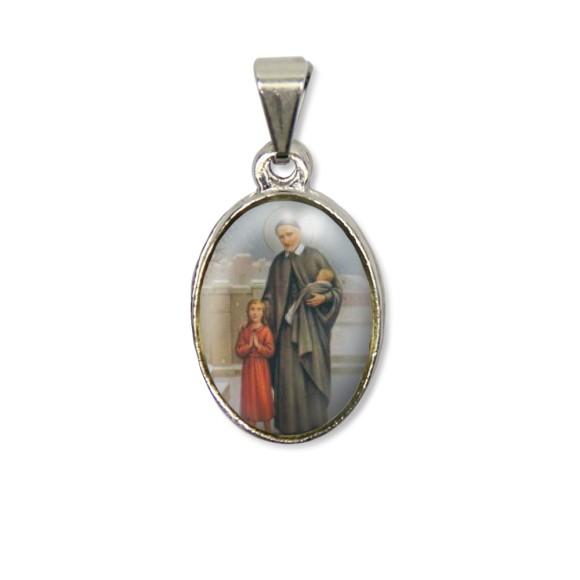 MD125438P2 - Medalha São Vicente de Paula PX Níquel c/ 2un. - 3X1,5cm