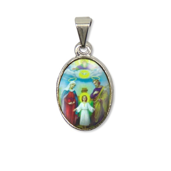 MD125801P2 - Medalha Sagrada Família PX Níquel c/ 2un. - 3X1,5cm