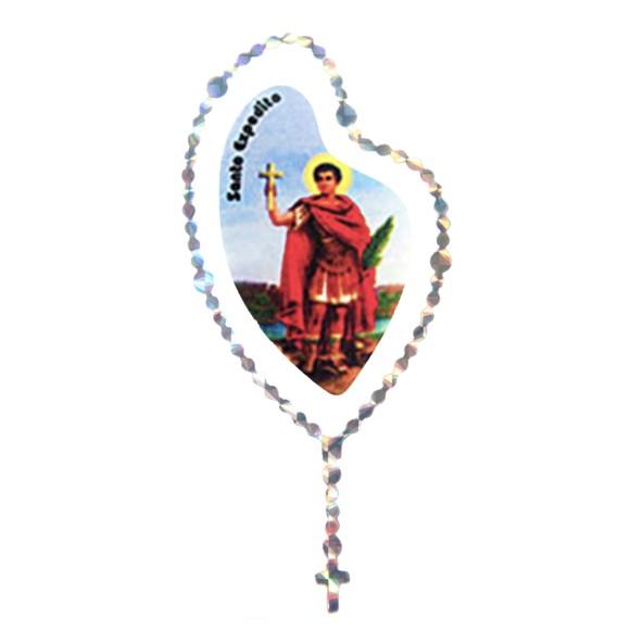 AD1501405 - Adesivo Terço Santo Expedito Prata - 12x6cm