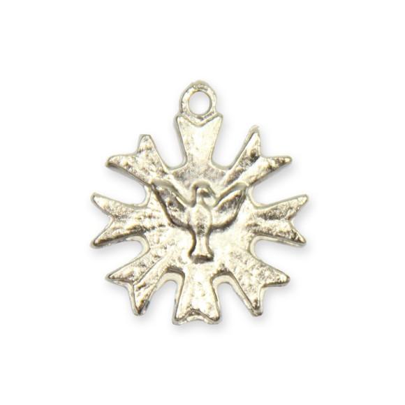 PG480010P10 - Pingente Divino Espírito Santo Metal Níquel c/ 10un. - 1,8x2cm