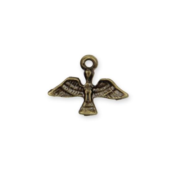 PG480036P10 - Pingente Divino Espírito Santo Metal Ouro Velho c/ 10un. - 1,5x1,7cm