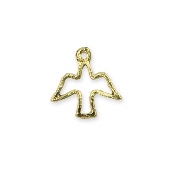 PG480042P10 - Pingente Divino Espírito Santo Metal Dourado c/ 10un. - 1,7x1,7cm