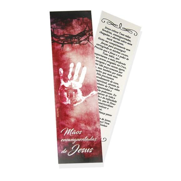 MP66202P6 - Marcador de Página Mãos Ensanguentadas de Jesus c/ 6un. - 18x5cm