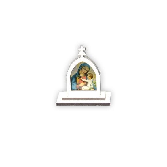 CP81016 - Capela N. Sra. Da Paz MDF Branca - 6x5,5cm
