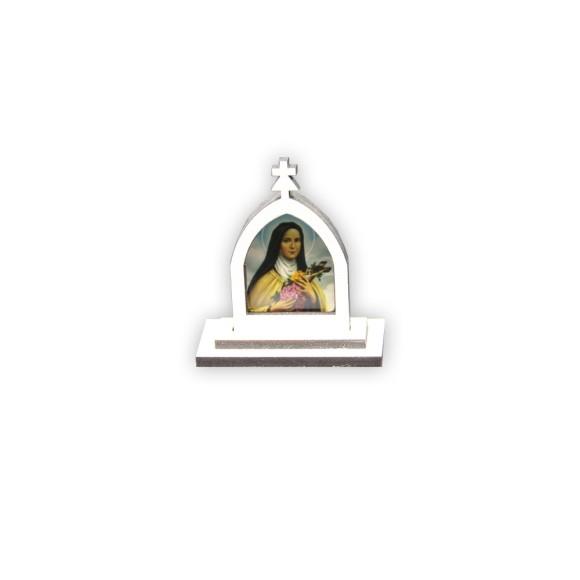 CP81018 - Capela Santa Terezinha das Rosas MDF Branca - 6x5,5cm