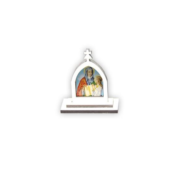 CP81021 - Capela Santa Ana MDF Branca - 6x5,5cm