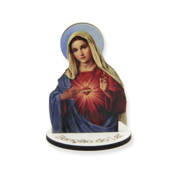 AO291004 - Pedestal Sagrado Coração de Maria  MDF - 7,5x5,3cm