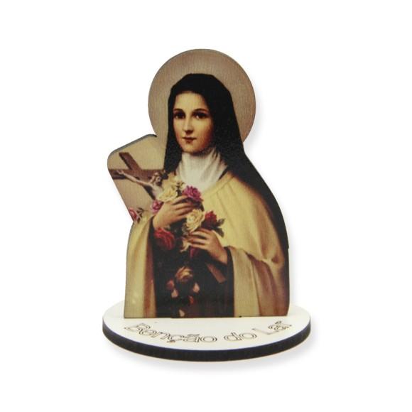 AO291006 - Pedestal Santa Teresinha das Rosas MDF - 7x5cm