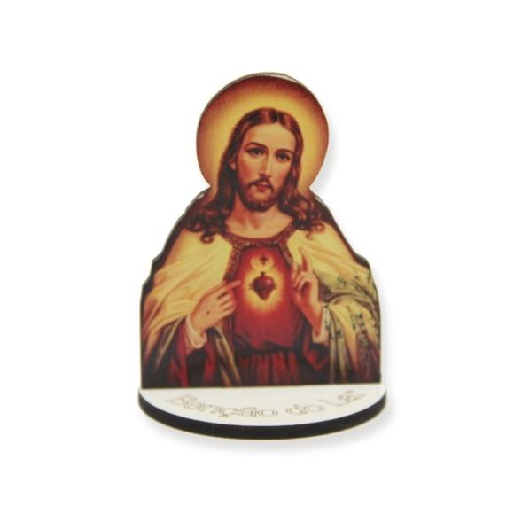 AO291052 - Pedestal Sagrado Coração de Jesus MDF - 7,5x5,3cm
