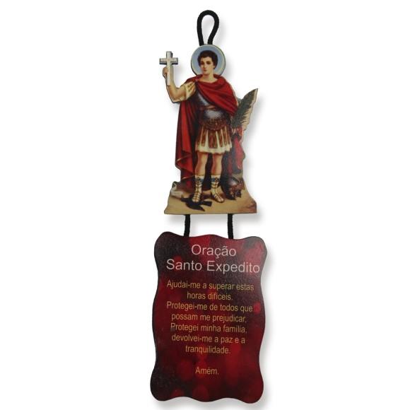 MO1410055 - Móbile Santo Expedito c/ Oração - 22x6,5cm