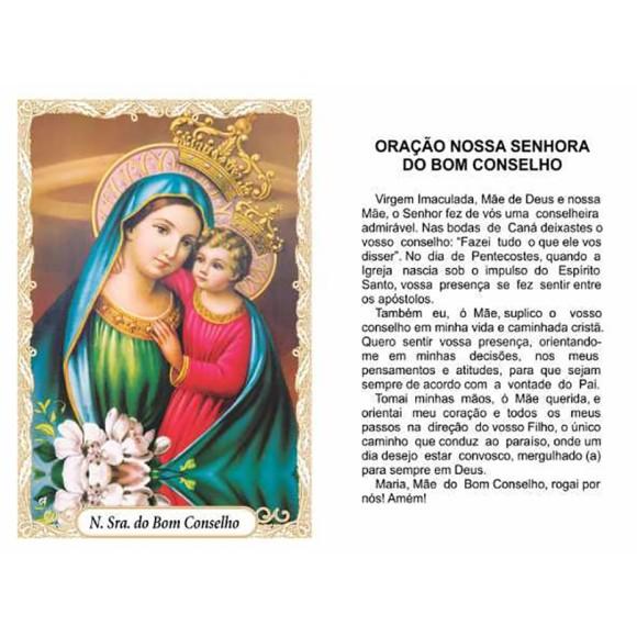 OG14014P100 - Oração N. Sra. Do Bom Conselho c/ 100un. - 9,5x6,5cm